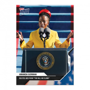 2020 Topps Now USA Election #20 Amanda Gorman Poem Inauguration PRESALE