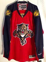 Reebok Premier NHL Jersey Florida Panthers Team Red sz L