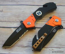 MTECH EMS TACTICAL RESCUE SPRING ASSISTED KNIFE WITH POCKET CLIP