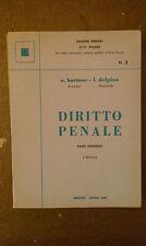 Diritto Penale - N.Bartone/L.Delpino - Parte Generale V Edizione Simone - 1983