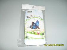 IPHONE 5G COVER RIGIDA PROTETTIVA SFONDO FARFALLA CON STRASS ART.64