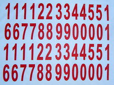 numbers set iron on transfers iron on numbers LARGE 90mm white