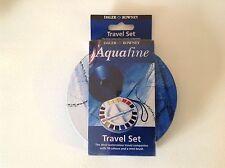 Daler Rowney Aquafine water colour watercolour half pan travel set round tin