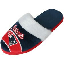 New England Patriots Womens Slippers SIZE LARGE 9/10 NFL Football Slip On Shoe