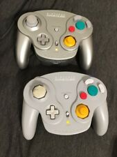 Silver Gray Nintendo Wavebird Wireless Controller ONLY Authentic Lot Of 2