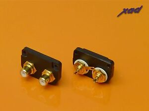 SME 3009 Improved tonearms Xad Gold plated RCA PHONO socket CONVERTER