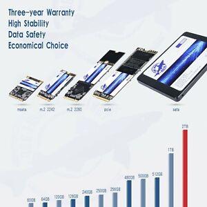 """SSD 120GB 250GB 500GB 1TB 2.5"""" M.2 mSATA NVME Solid State Drive SATA III Lot DH"""