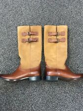 Women's Lucchese Tall Boots Paige Camel Calf Size 8 1/2