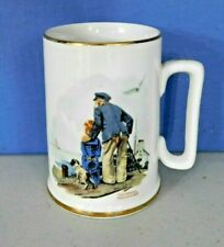 """Norman Rockwell Museum Inc 1985 """"Looking Out To Sea"""" Coffee Cup, Mug"""
