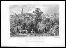 1835 ESSEX - Original Antique engraving  View of BRAINTREE (43)