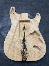 unfinished strat body. Stratocaster style body.  Birdseye  Maple  guitar body