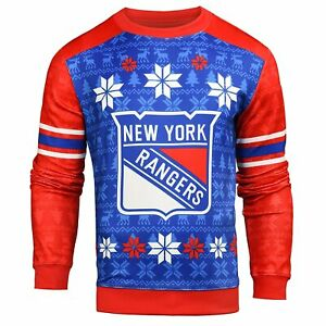 Forever Collectibles NHL Men's New York Rangers Printed Ugly Sweater