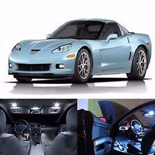 LED White Lights Interior Map License Plate Package Kit For Corvette C6