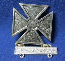 WWII Sterling Army Smoke Generator Marksman Badge by Fox SUPER RARE