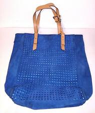 KELSI DAGGER TOTE Womens Dark Blue Suede Large Pocketbook Purse Handbag
