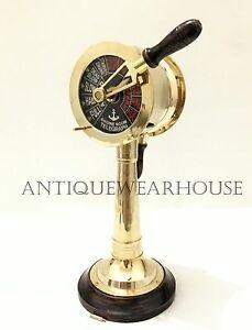 Maritime Vintage Ship Engine Room Solid Brass Telegraph Nautical Decorative