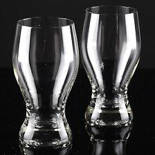 2 Vintage Becher Gläser Wassergläser Saftgläser schöne Form Trinkgläser K89