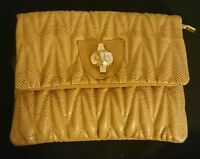 Damentasche Tasche Clutch Abendtasche Damen Handtasche Neu Braun Gold Eule
