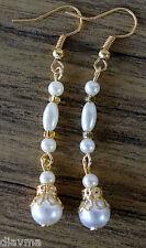 Retro -  Vintage faux pearl bead dangle EARRINGS Jewellery