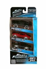 JADA FAST AND FURIOUS DOM'S RIDES 3 PACK SET 1970 CHARGER CHEVELLE 1/55 97426