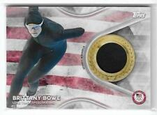 Awesome 2018 Topps Olympics Brittany Bowe Relic Card ~ Usa Speedskating