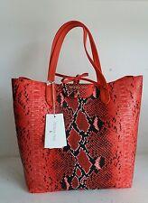 PATRIZIA PEPE bags borsa a spalla divisorio centrale red python  handbags