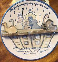 "Louisville Stoneware Noah's Ark 14"" 2x2 Wall Hanger Platter & 2 Cookie Cutters"