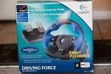 Logitech Driving Force Playstation 2 Steering Wheel  Pedals Lap Attachment
