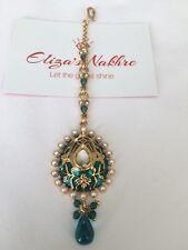 Green And Gold Meenakari Maang Tika Indian/Pakistani Bollywood Style