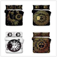 3D Bohemia Sun Moon Duvet Cover Bedding Set Comforter Quilt Cover Pillow Case