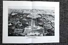 Die Wasserkünste von Versailles Schloss DRUCK von 1912 Château de Versailles