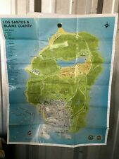 Grand Theft Auto V Los Santos Map Poster X BOX 360 Game Insert