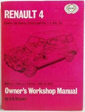Haynes - Renault 4 Owner's Atelier Manuel - Occasion Peu Notes - T48