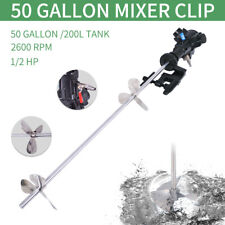 50 Gallon Stainless Steel Pneumatic Mixer Paint Mixer Mix Tool Us Shipping
