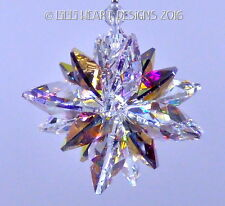 m/w Swarovski Vitrail Light and Clear Super Star Suncatcher Lilli Heart Designs