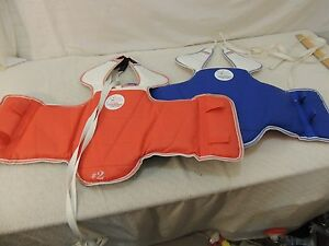 Lot of Two U.S. Taekwondo Center Sparring Chest Guards Adult Small x 2 50871
