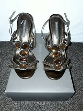PiedA Terre Designer Woman's Bronze Party Shoes. Size 6/Eur 39. Brand new in box