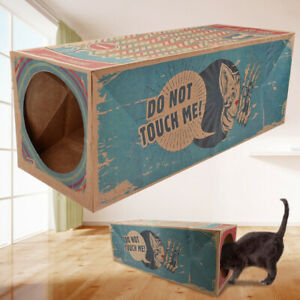 Cat Tunnels for Indoor Cats Kitten Play Tunnel Tube Toys Collapsible Cardboard
