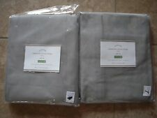 "POTTERY BARN 2 Cameron Cotton Drape Panels 50 x 96"" NEW - GRAY Drizzle"