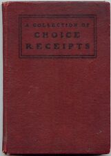 Various: Choice Receipts: Tested by Experienced Housekeepers HC