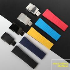 22 24 mm Rubber Wristwatch Bands For Breitling Black Red Yellow Watch Band Strap