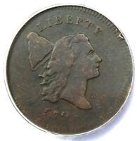 1795 Liberty Cap Flowing Hair Half Cent 1/2C Coin C6a - ANACS F15 - $1,750 Value