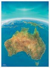 Poster Panoramakarte Australien Hochformat 92x125cm #120076 - NEU