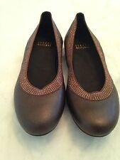 STUART WEITZMAN Ladies Tan Leather Flats Size 5 M Career Casual Slip On