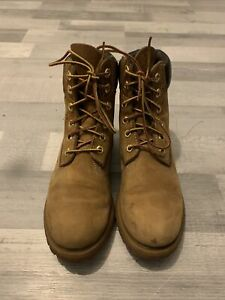 TIMBERLAND Brown Leather Ankle Boots UK Size 6 (ref S17)