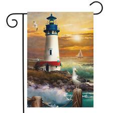 "Sunset Lighthouse Summer Garden Flag Nautical 12.5"" x 18"" Briarwood Lane"