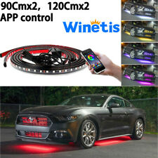 New listing APP Control LED Strip Under Car Tube underglow Underbody System Neon Lights RGB(Fits: LaCrosse)