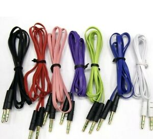 2 X 1M - 3.5mm Jack Plug Aux Cable Audio Lead For to Headphone MP3 iPod PC Car