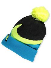 Nike Big Boy's Swoosh Pom Pom Beanie ( Size 8/20, Blue Lagoon/Black)
