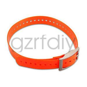 Orange strap waterproof for Garmin GPS DC40 dog tracking collar astro 220 / 320